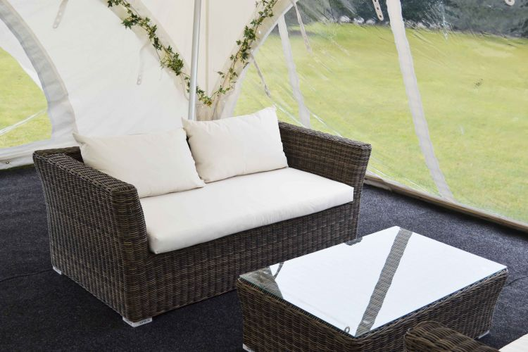 rattan chill out sofas 2 seater premier event marquees. Black Bedroom Furniture Sets. Home Design Ideas
