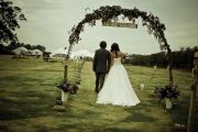 Bride and Groom with Marquee