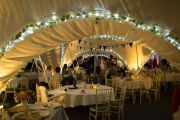 Inside Marquee at Wedding