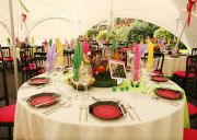 Table Arrangement in Marquee
