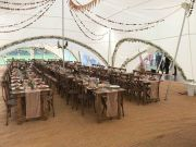Rustic Trestles in marquee
