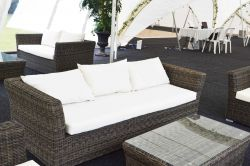 Rattan Chill Out Sofas 3 Seater